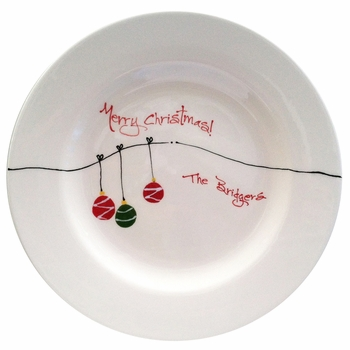 personalized christmas ornament plate