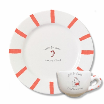 personalized christmas plate and cup