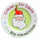 personalized christmas plate - cookies for santa