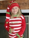 personalized christmas striped name sweater