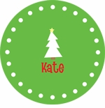 personalized christmas tree holiday plate (style 1p)