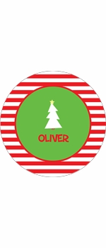 personalized christmas tree  holiday plate (style 2p)