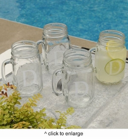 personalized classic jar glass set
