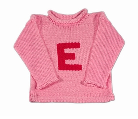 personalized color letter sweater