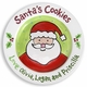 personalized cookies christmas plate