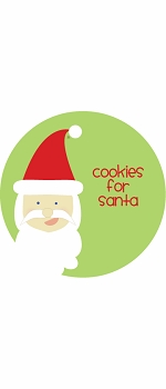 personalized cookies for santa holiday plate