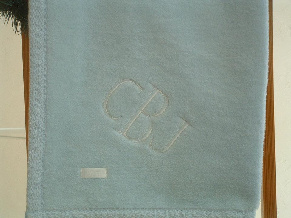 personalized cotton fleece baby blanket