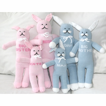personalized cotton knit bunny