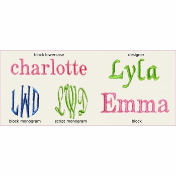 personalized crescent beach trio