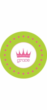 personalized crown plate (style 1p)