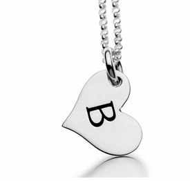 personalized design your own heart tag necklace sterling silver