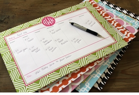 personalized desk planners