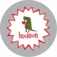 personalized devoted dino holiday plate (style 1p)