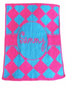 personalized diamonds stroller blanket