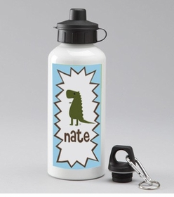 personalized dino bottle for boys
