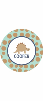 personalized dino boy plate (style 1p)
