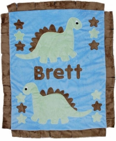 personalized dinosaur blanket