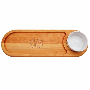 personalized dip and serve cutting board