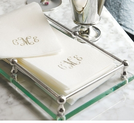 personalized disposable linen-like guest towels