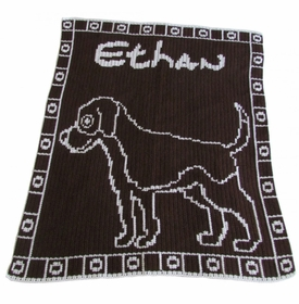 personalized dog blanket (not available)