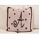 personalized dot custom crib blanket - initials/name