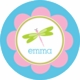 personalized dragonfly plate (style 1p)