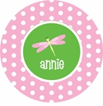 personalized dragonfly plate (style 2p)