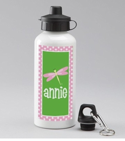 personalized dragonfly water bottle