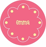 personalized easter names  holiday plate (style 1p)