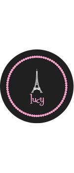 personalized eiffeltower plate (style 2p)
