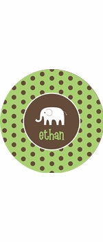 personalized elephant  boy plate (style 2p)
