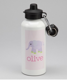 personalized elephant water bottle