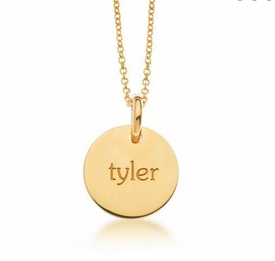 personalized elle collection 1 tag mommy necklace 24k gold plated