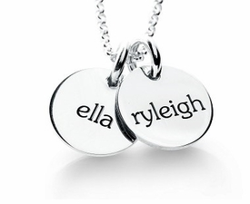 personalized elle collection 2 tags mommy necklace
