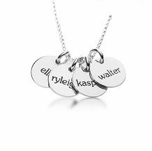 personalized elle collection 4 tags mommy necklace