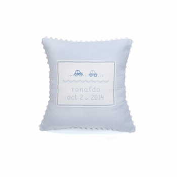 personalized embroidered baby car pillow