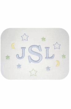 personalized embroidered baby pillow - boy