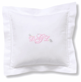 personalized embroidered baby pillow - girl