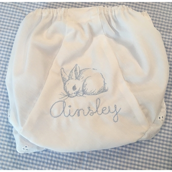 personalized embroidered bunny bloomers