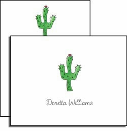 personalized everyday notes � blooming cactus