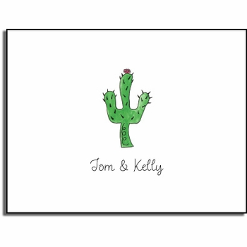 personalized everyday notes – blooming cactus