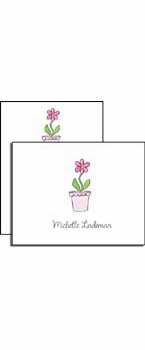 personalized everyday notes – blooming pink