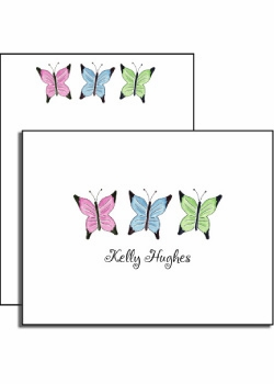 personalized everyday notes – butterfly garden
