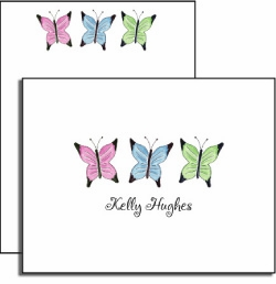 personalized everyday notes � butterfly garden