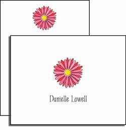 personalized everyday notes - gerber daisy