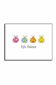 personalized everyday notes - lucky ladybugs