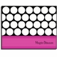 personalized everyday notes – magenta circles