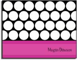 personalized everyday notes � magenta circles