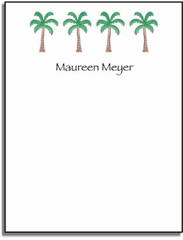 personalized everyday notes – palm paradise