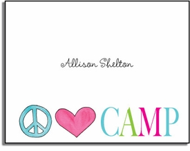 personalized everyday notes � peace love camp